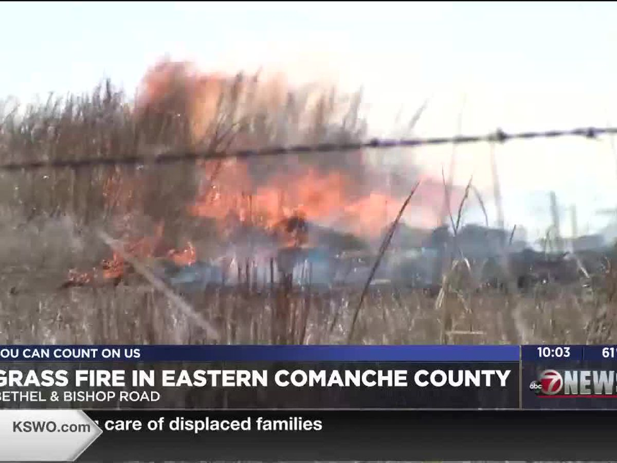 Stephens, Comanche County fire crews battle grass fire