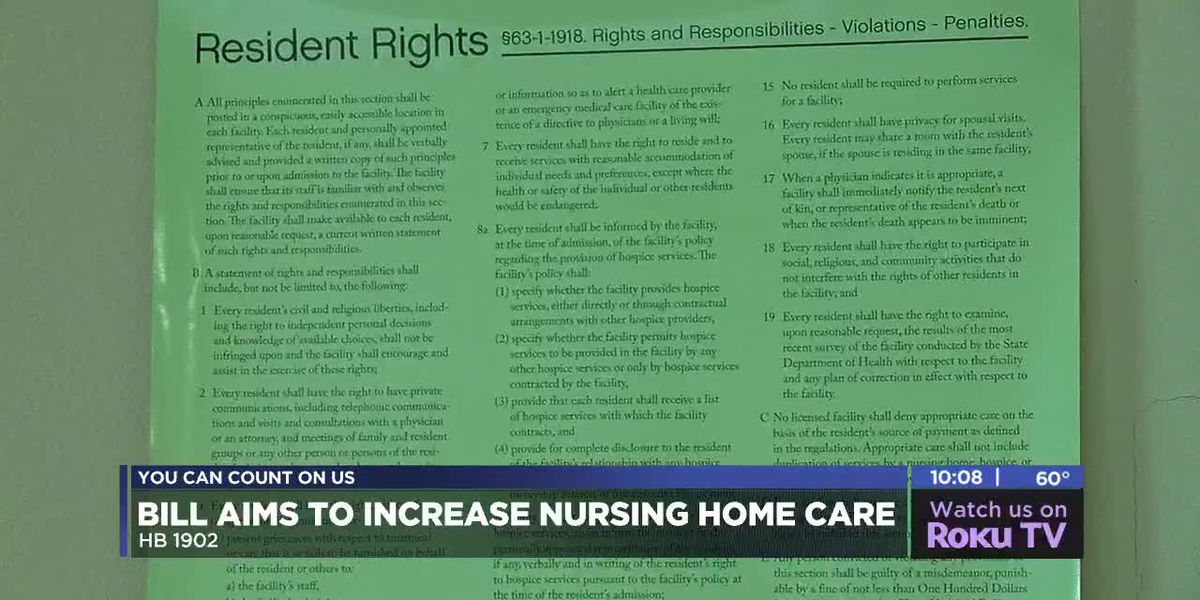 Bill passes through house that will provide nursing homes with more funding