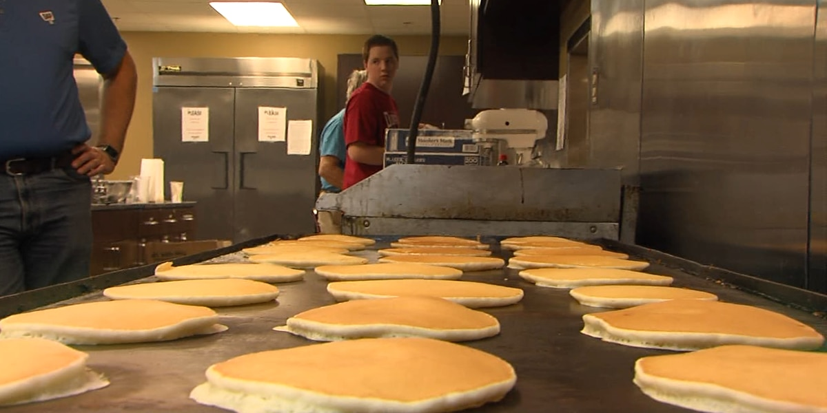 Duncan community comes together to support service organizations over pancakes