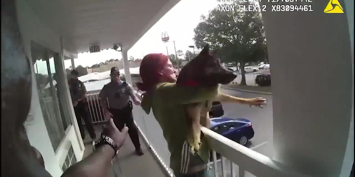 Florida woman caught on camera throwing dog off balcony before arrest
