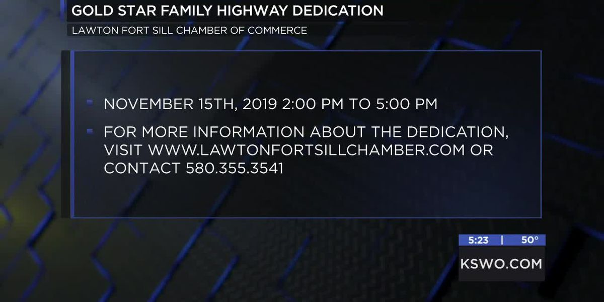 Lawton-Fort Sill Chamber of Commerce hosting Gold Star family highway dedication