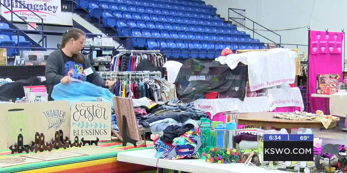 Lawton's Largest Garage Antique and Collectible sale happening at coliseum