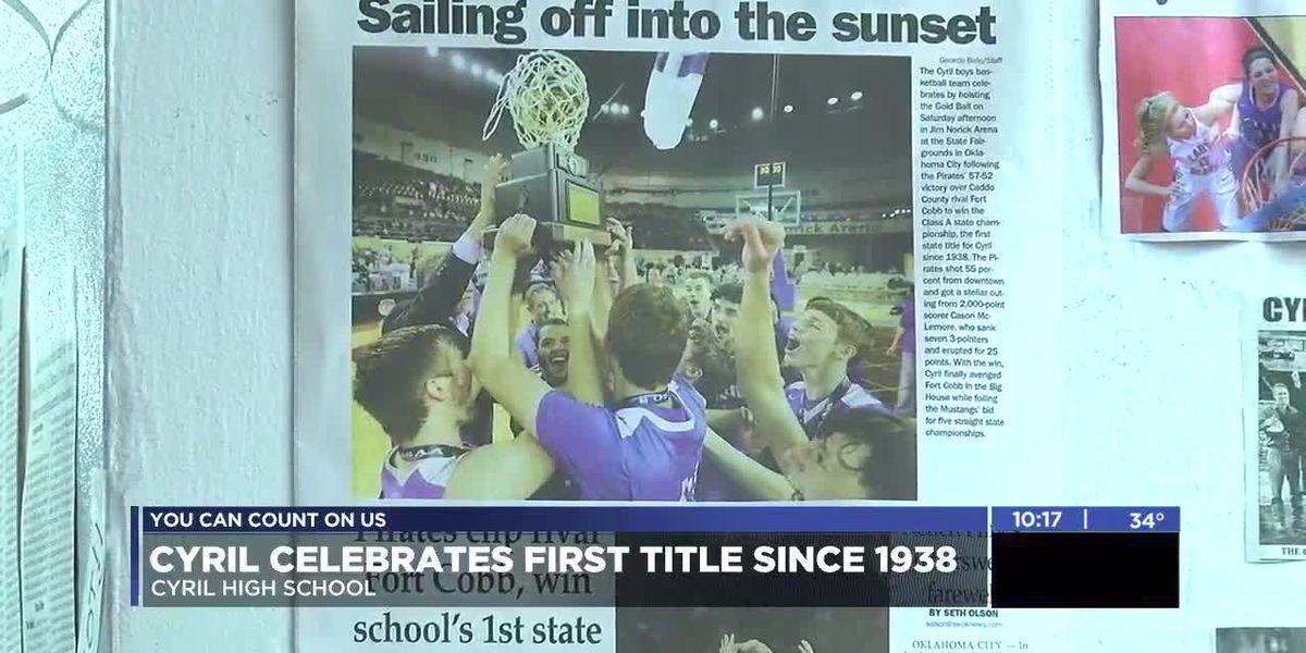Cyril celebrates Class A basketball state championship