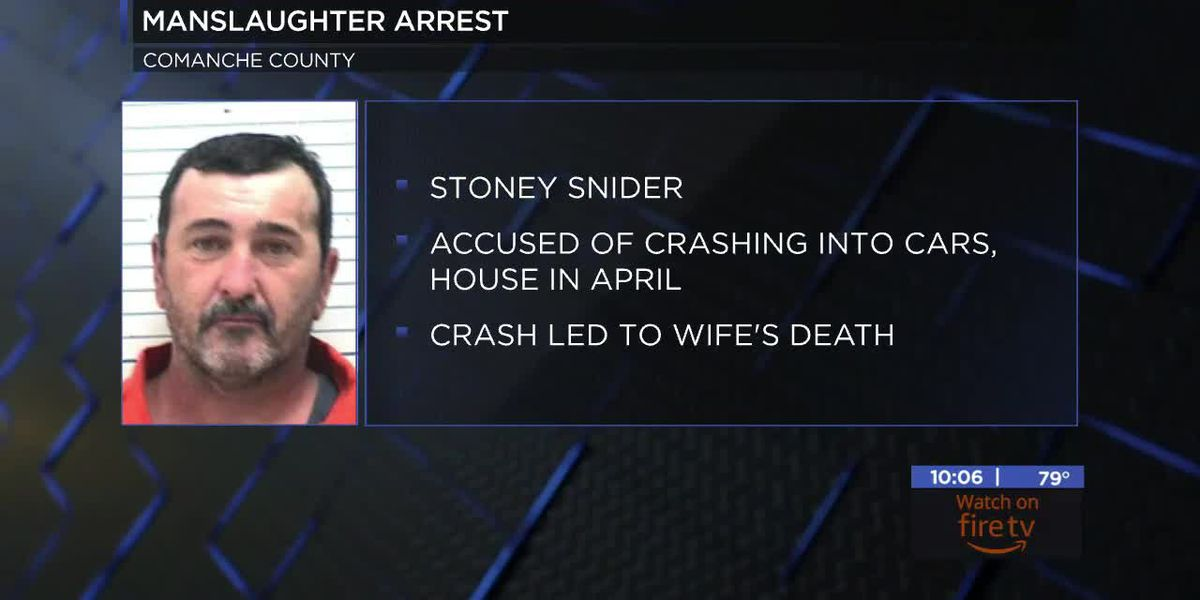 Man charged with manslaughter for April crash arrested