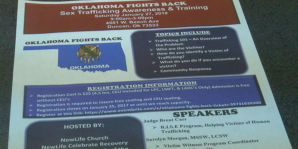Sex Trafficking Awareness and Training event in Duncan this weekend
