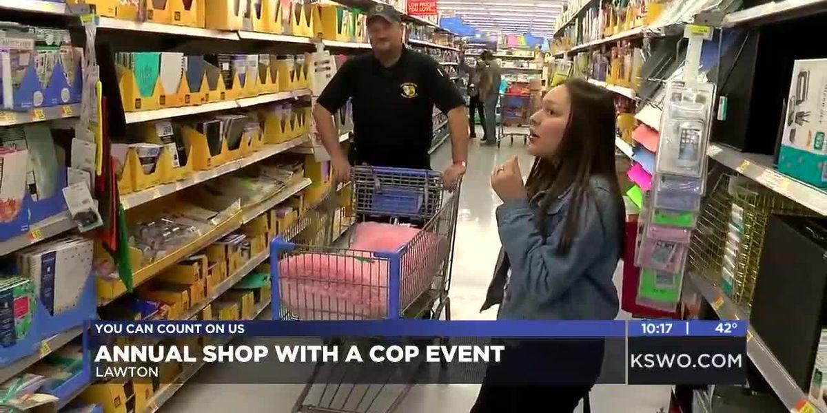 Comanche Nation hosts annual 'Shop with a Cop'