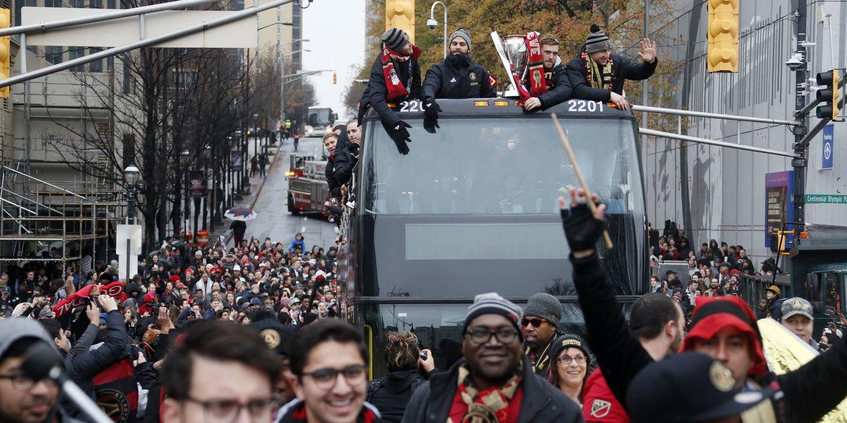 Atlanta celebrates a title, but revelry won't last long