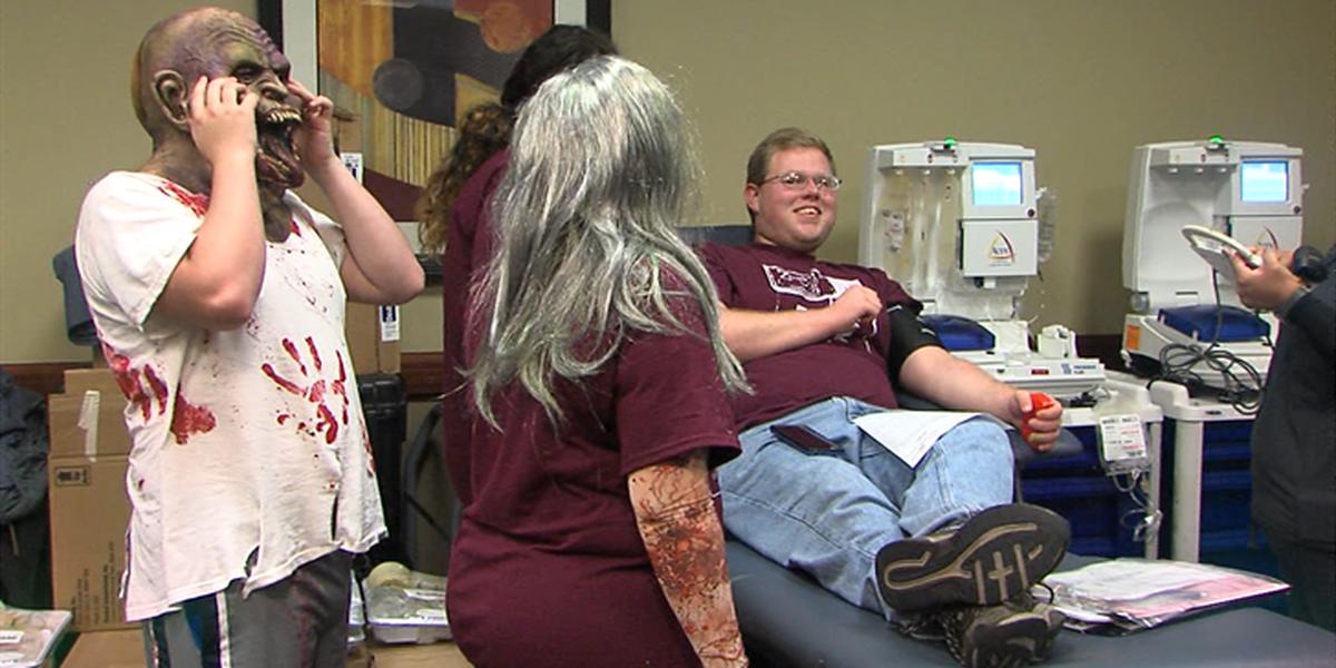 Cameron University hosts zombie apocalypse blood drive