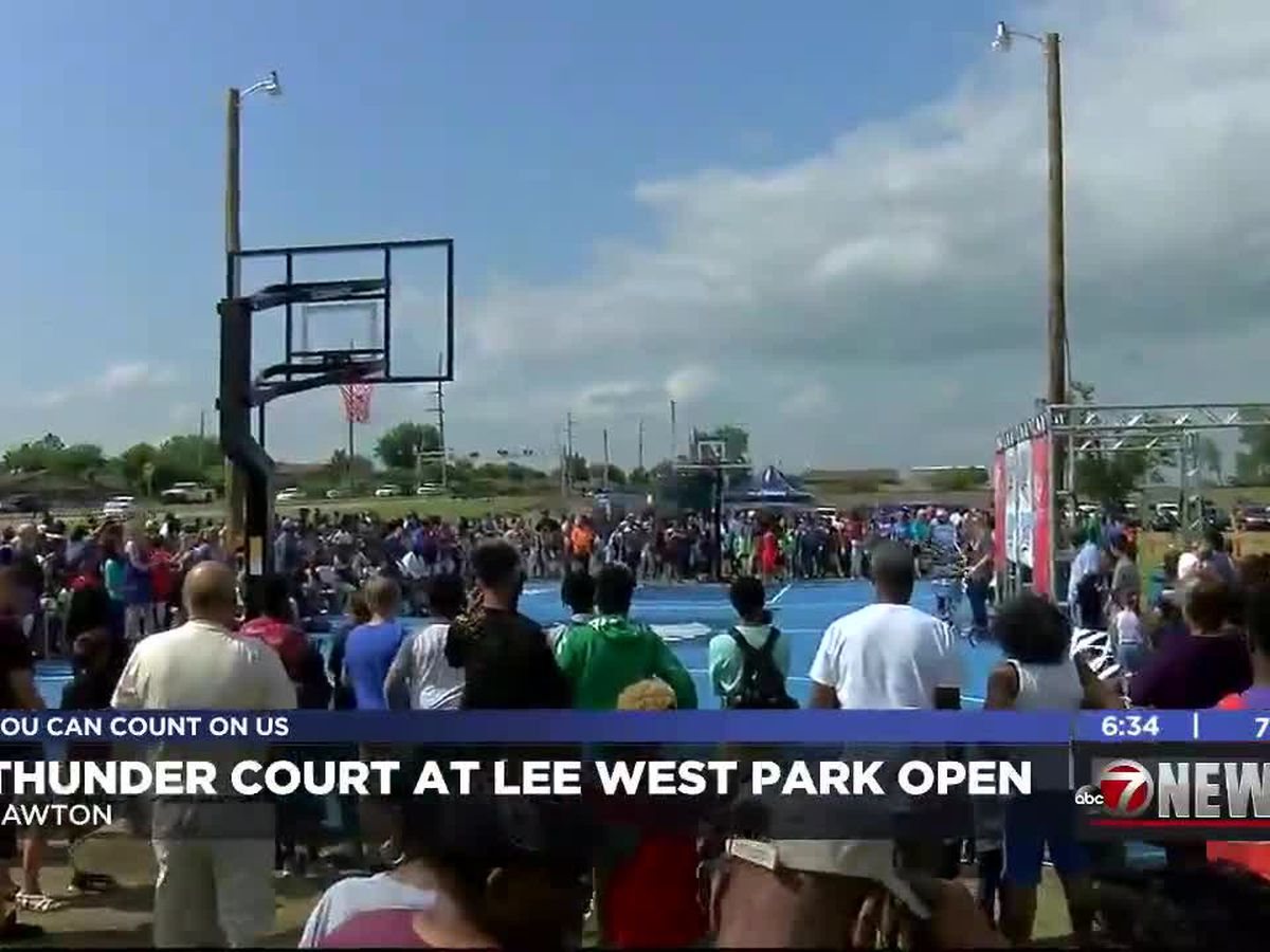 OKC Thunder basketball court opens in Lawton