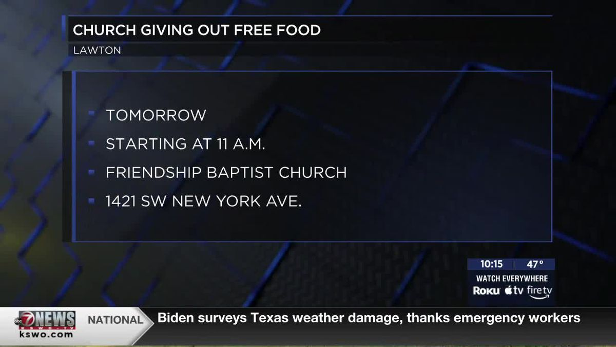 Friendship Baptist Church to give free food to those in need