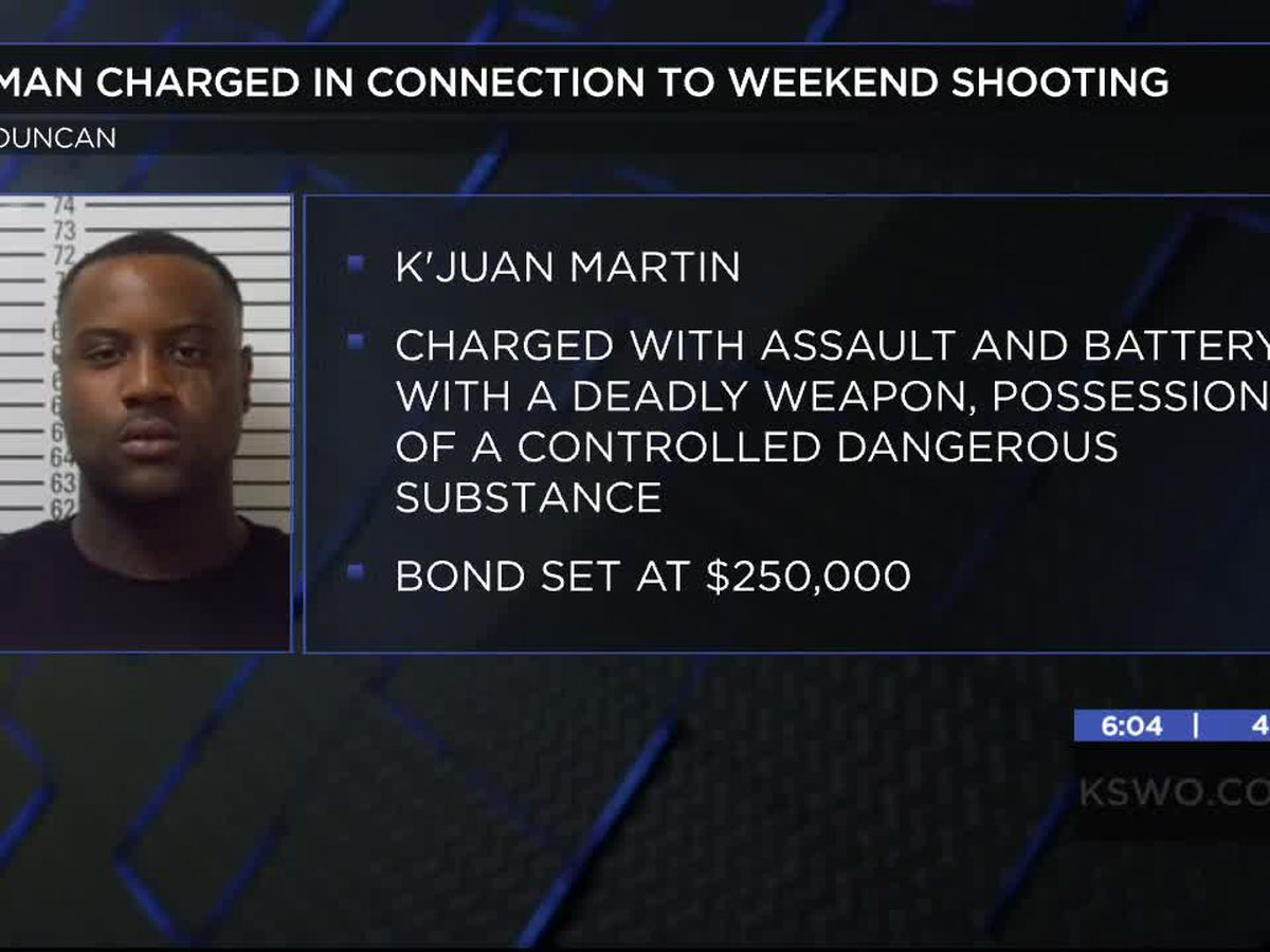 Duncan man charged in connection to weekend shooting