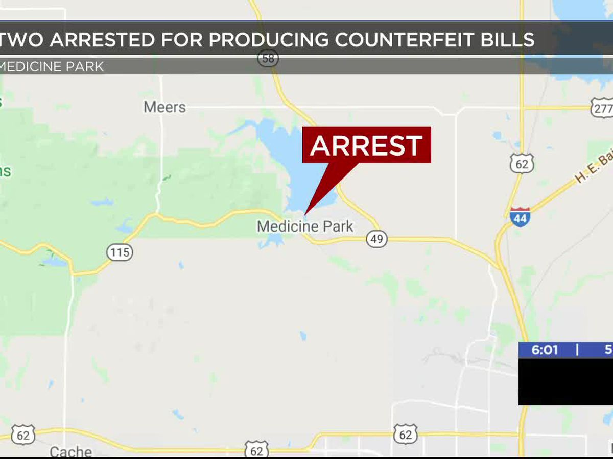 Medicine Park police arrest two over counterfeit bill production