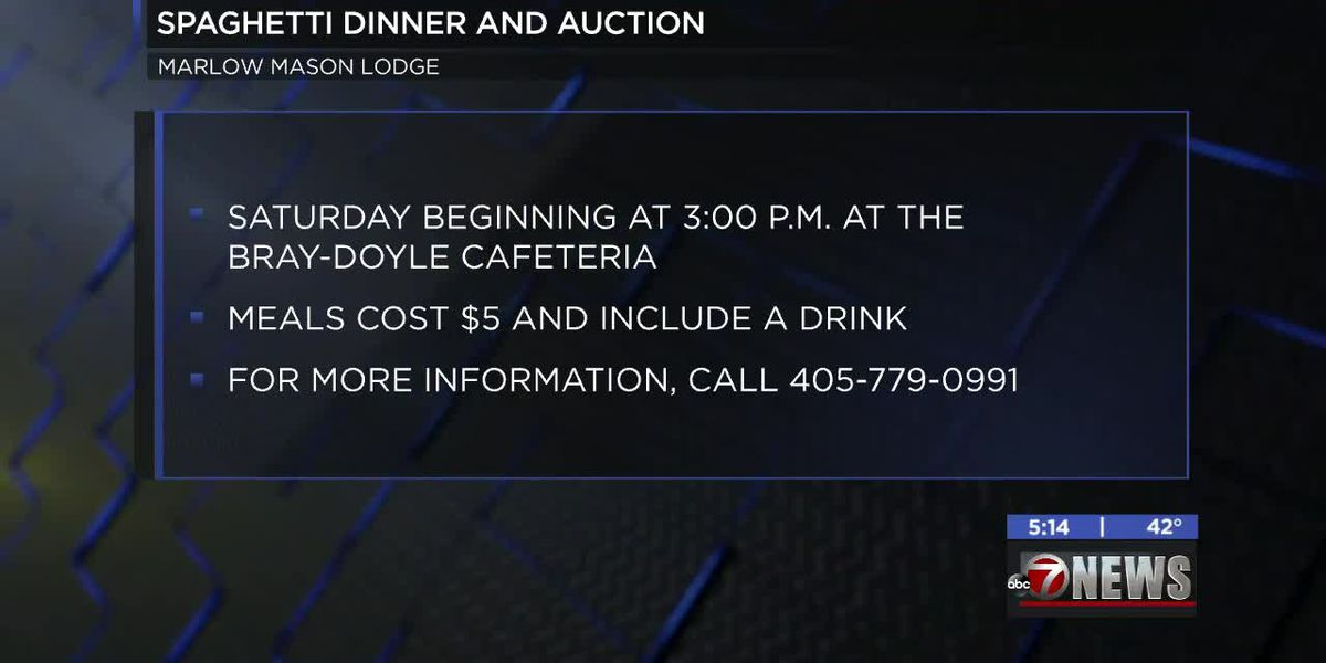Marlow Mason Lodge hosts spaghetti dinner and auction