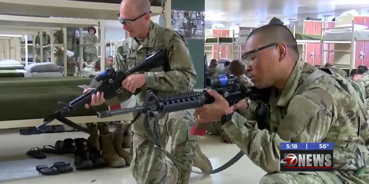Two soldiers nearing graduation after re-enlisting in military