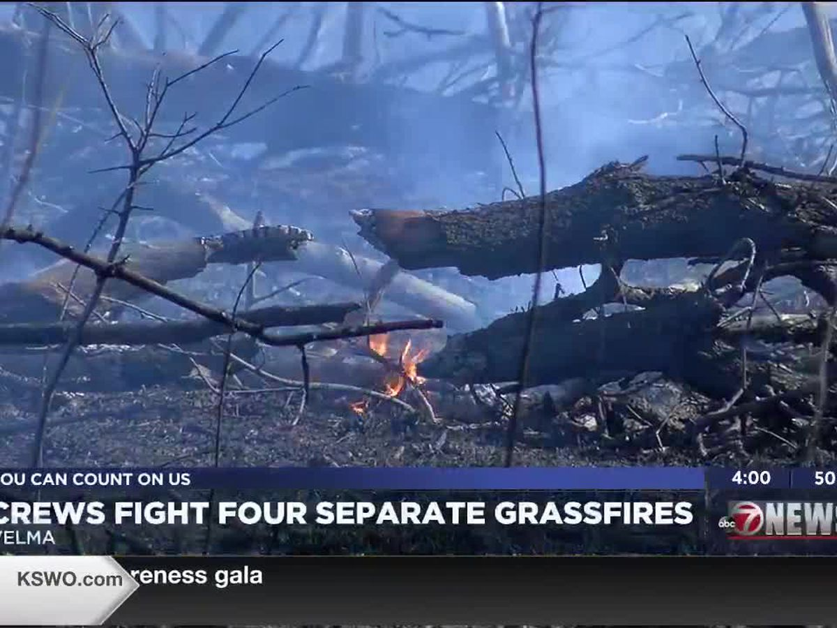 Stephens County fire crews battle four separate fires