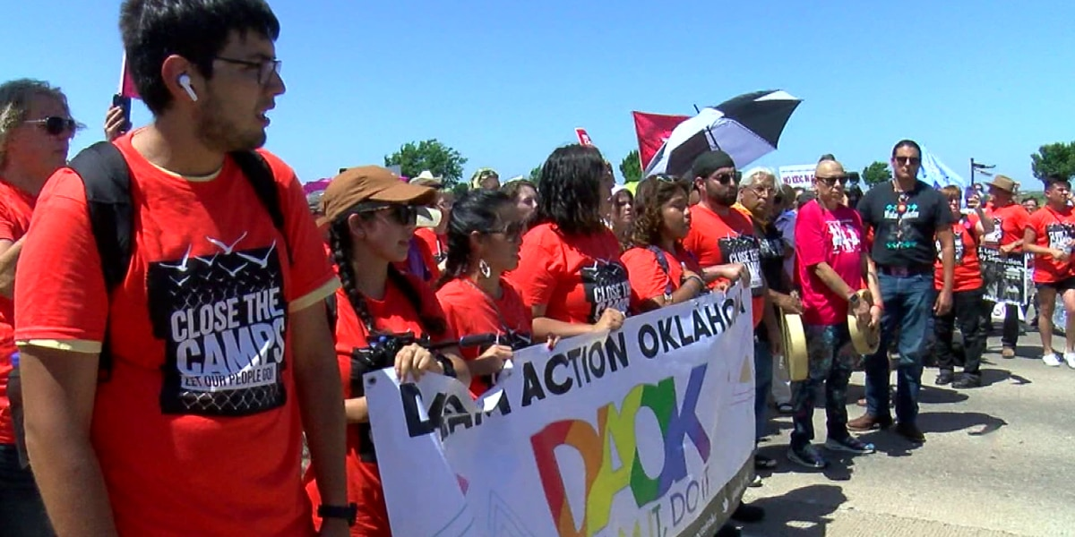 WF community members attend 'Close the Camps' protest in Lawton