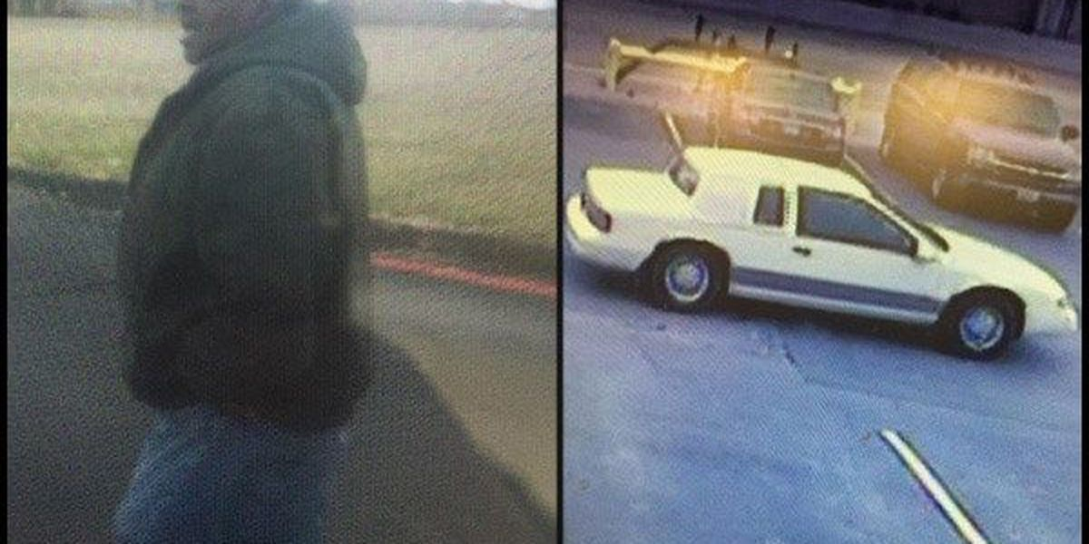 Police search for man in car, meat theft