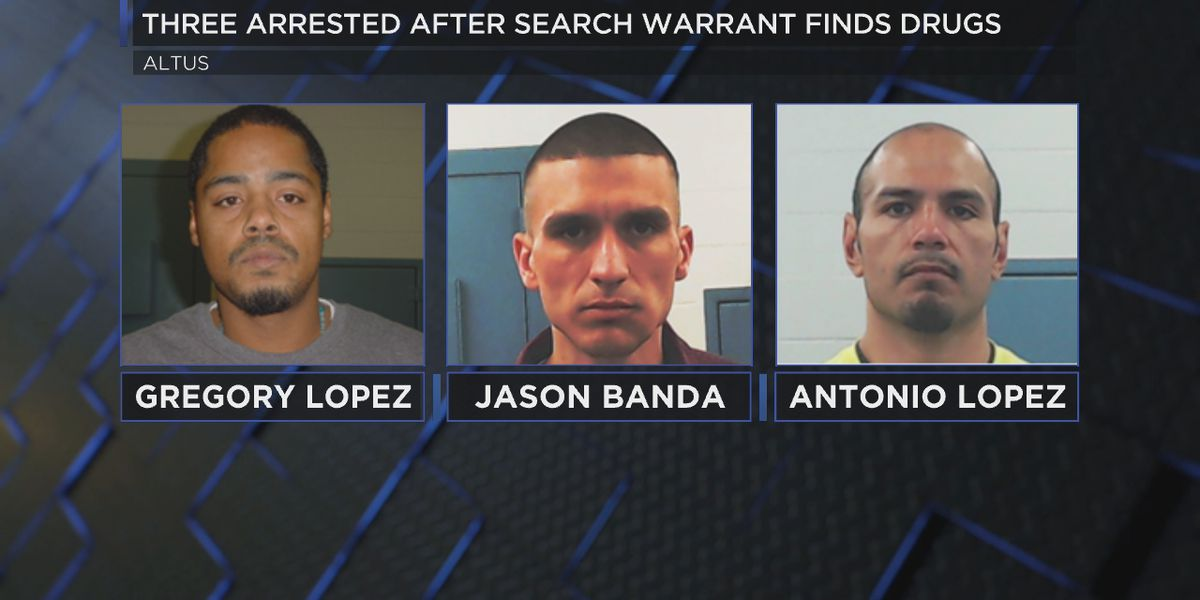 Three arrested in Altus on drug related charges