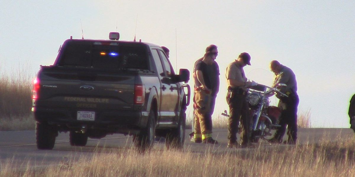 Simultaneous motorcycle accidents on the Wildlife Refuge kills 1, injures another