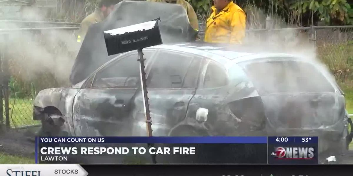 Fire crews respond to car fire in Lawton