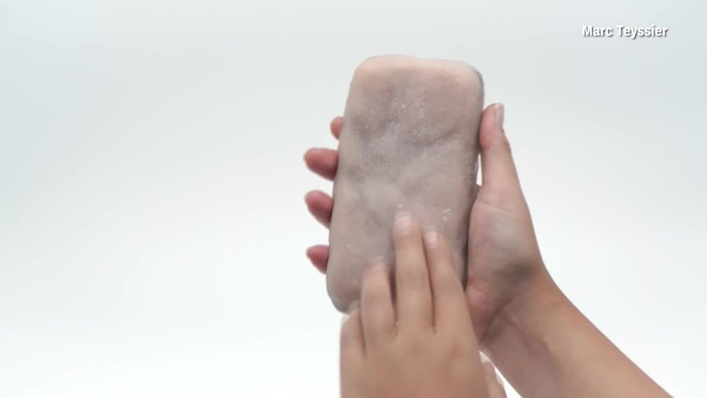 This phone case looks and reacts like human skin