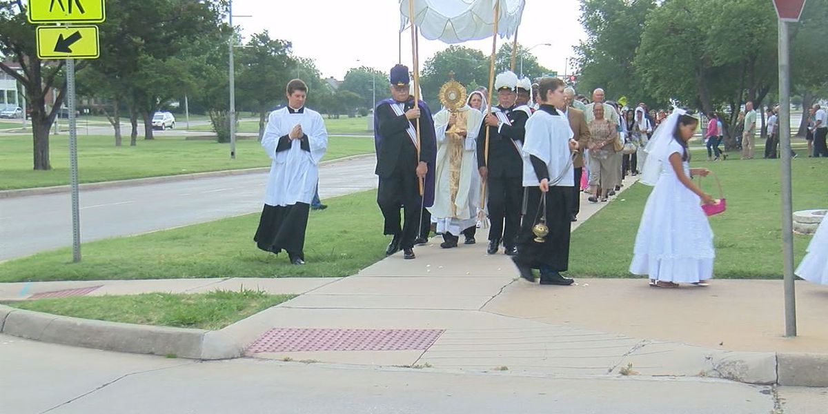 A local church holds Procession for Corpus Christi