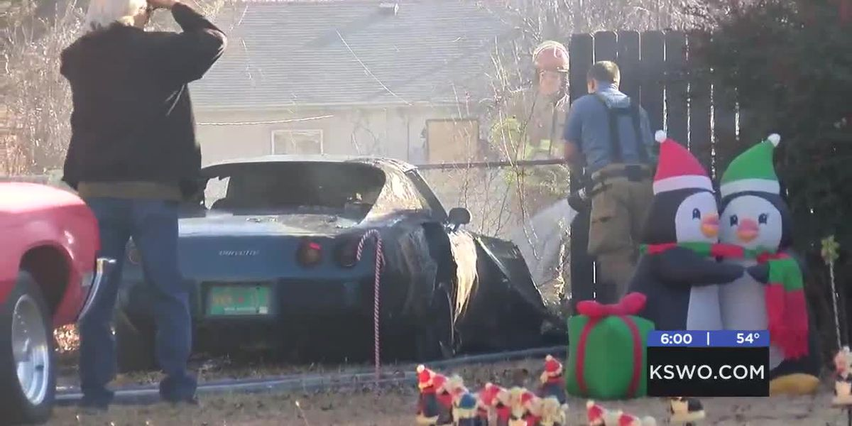 Lawton firefighters respond to car fire