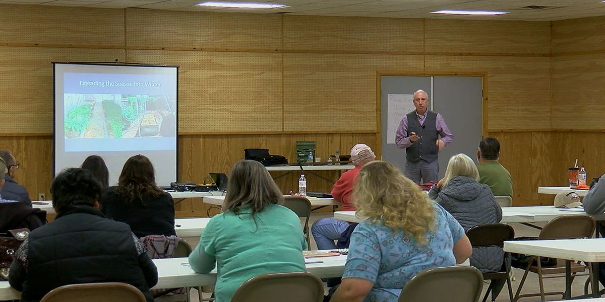 Gardeners attend class in hopes of mastering gardening
