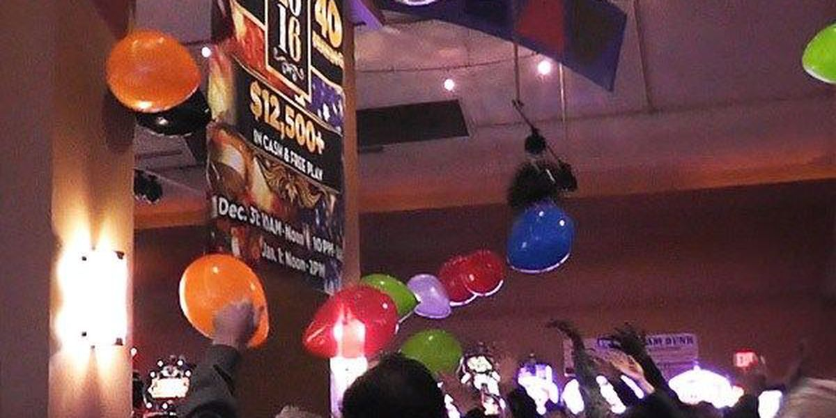 Guests ring in the 'Noon Year' at Apache Casino