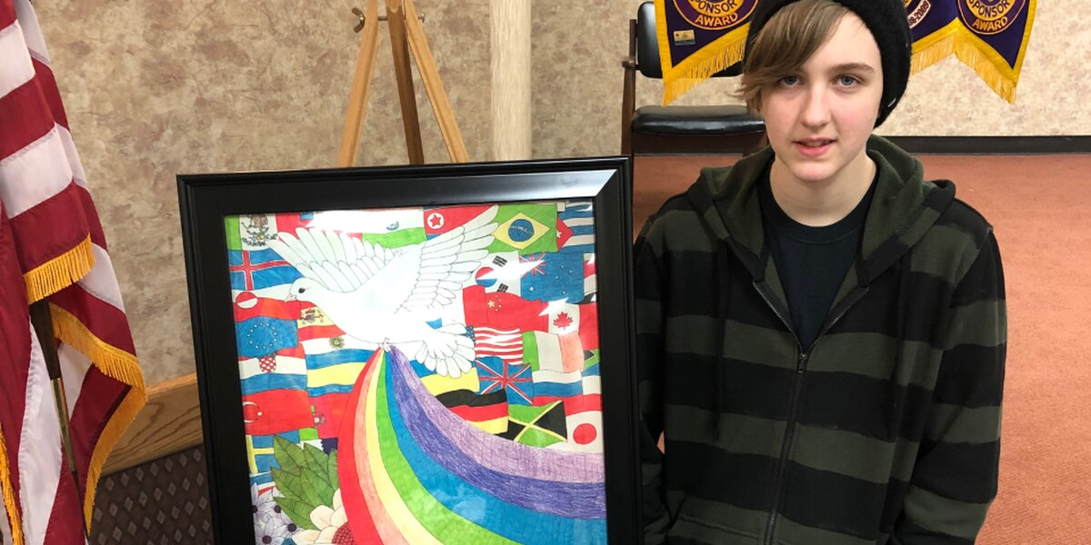 Lawton teen wins local Peace Poster Contest