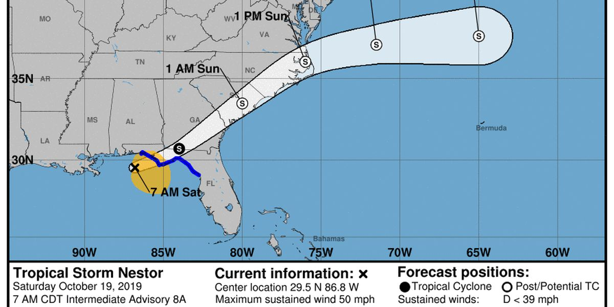Tropical Storm Nestor threatens US Gulf Coast