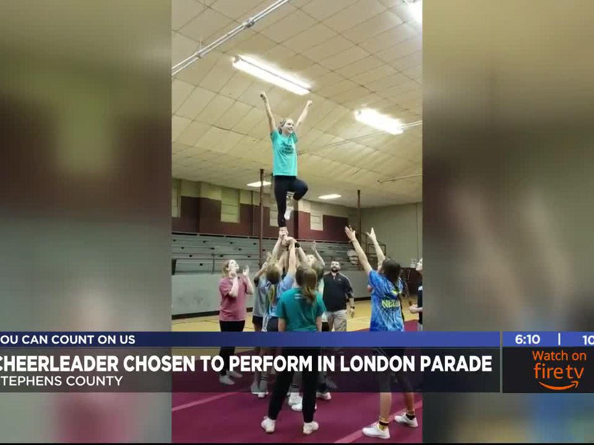 Velma-Alma cheerleader chosen to perform in London