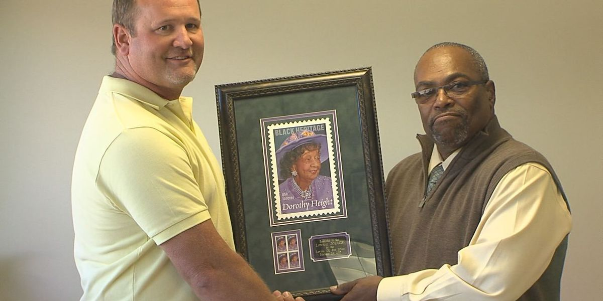 Lawton NAACP presented with stamp of civil rights icon
