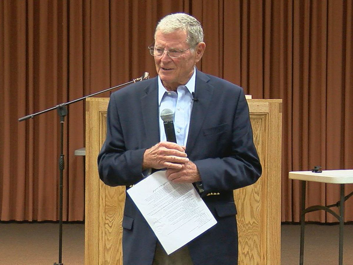 Inhofe endorses Stitt, talks Trump, Kavanaugh