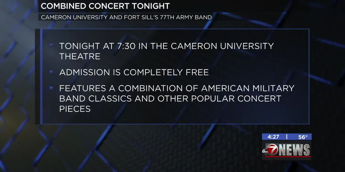 Cameron Concert Band and Fort Sill 77th Army Band present combined concert