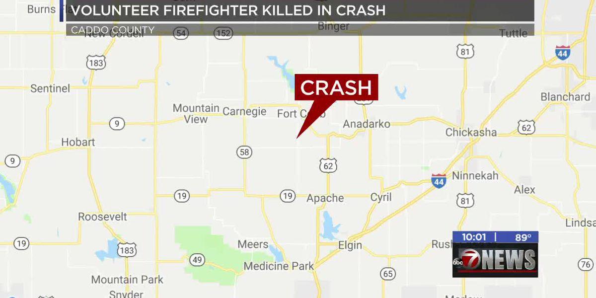 Grady Co. volunteer firefighter killed in crash near Fort Cobb