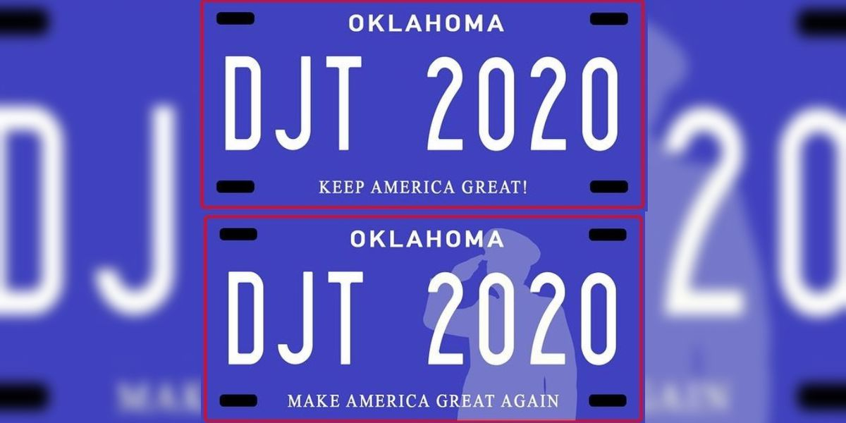Oklahoma veterans group opposes bill that would create'Make America Great Again' license plates