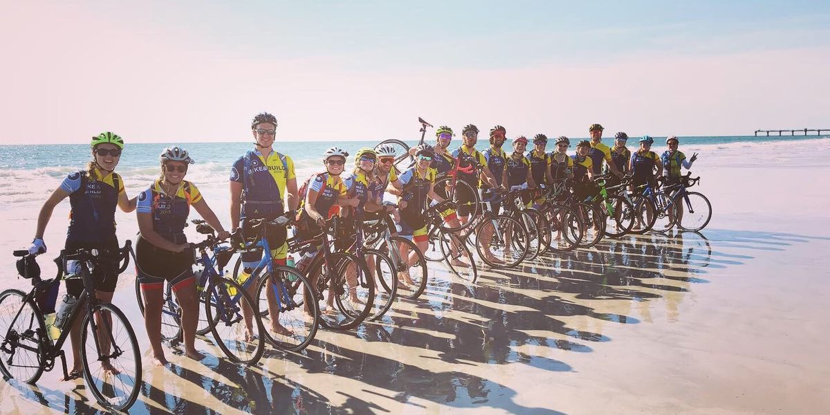 Group biking from Florida to California stops in Lawton