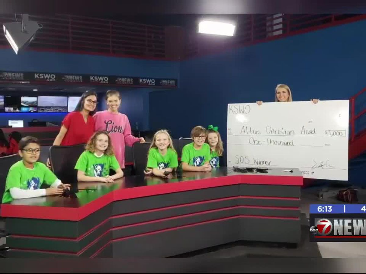 7News presents checks to local elementary schools for participation in Spirit of Survival