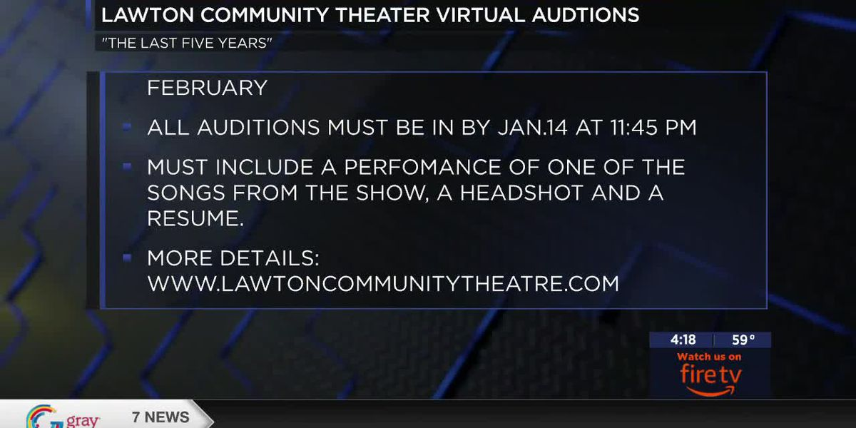 Last days to audition for Lawton Community Theatre's upcoming production