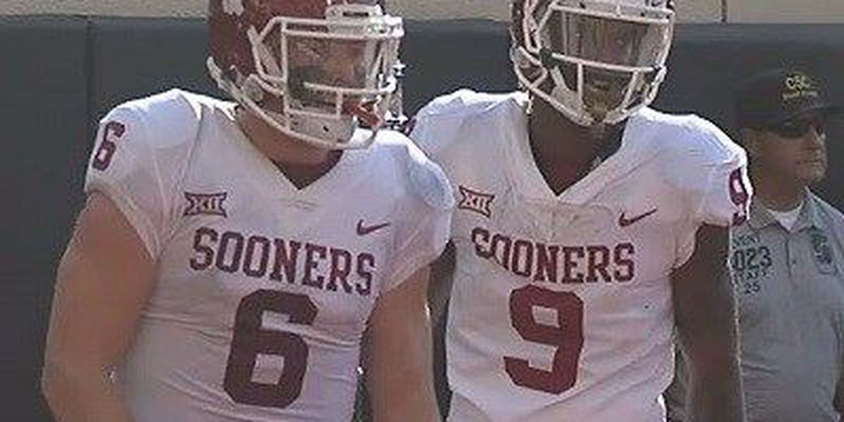 Mayfield's 598 yards lead Oklahoma past Oklahoma St. 62-52