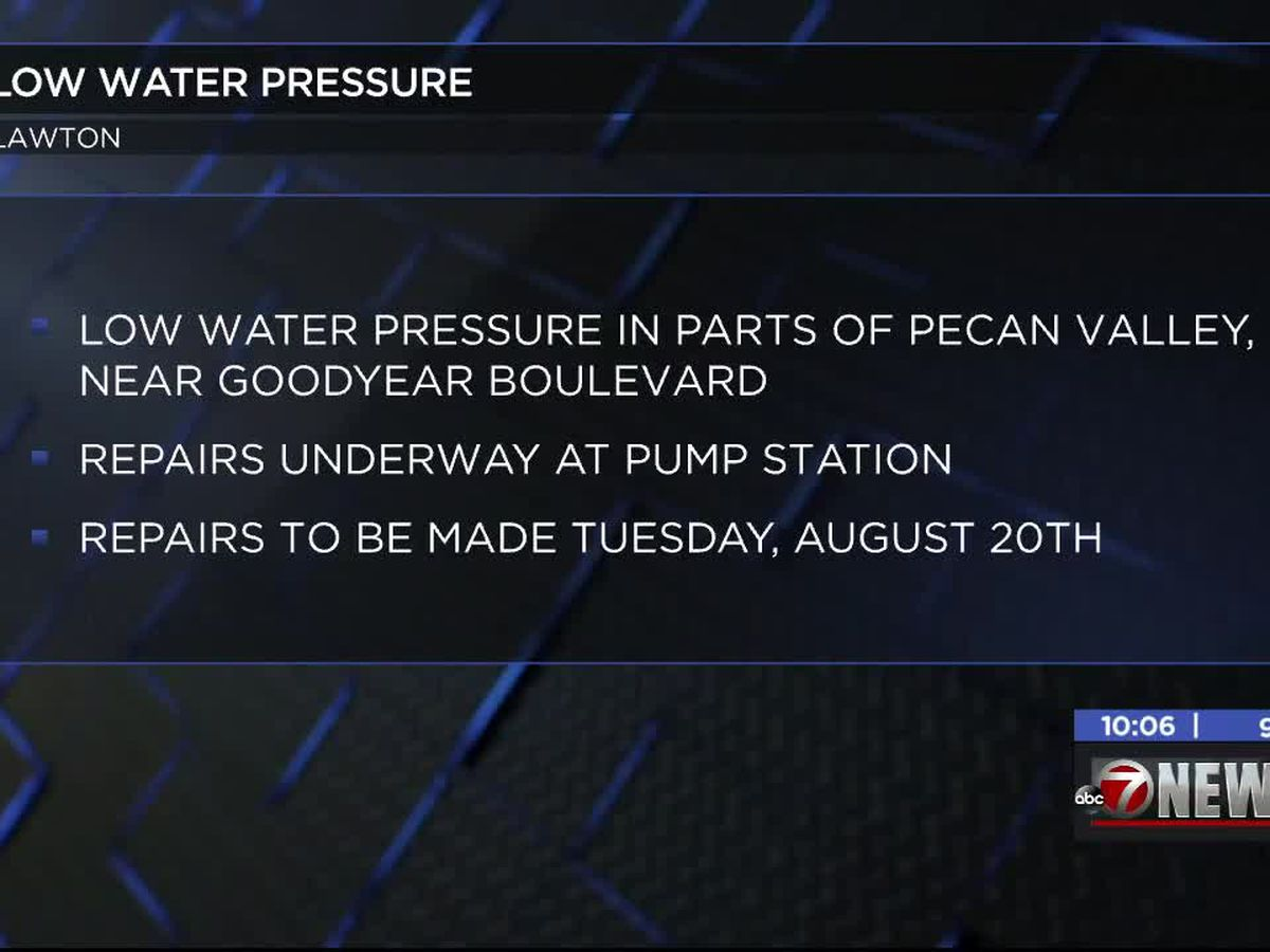 Some on Lawton West side to have low water pressure during repairs