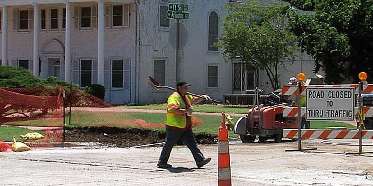 Weather delays Fort Sill Boulevard construction project