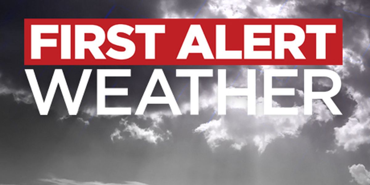 First Alert Forecast: cold front arrives midday