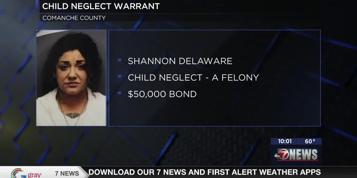 Arrest warrant filed for woman facing child neglect charge