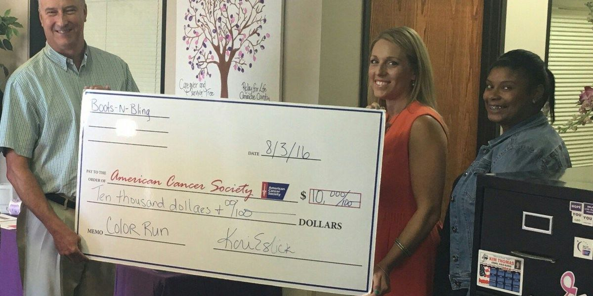 Boots & Bling donates to American Cancer Society