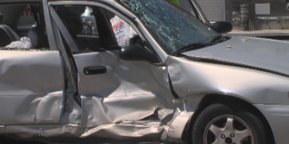 Two injured in three-car collision