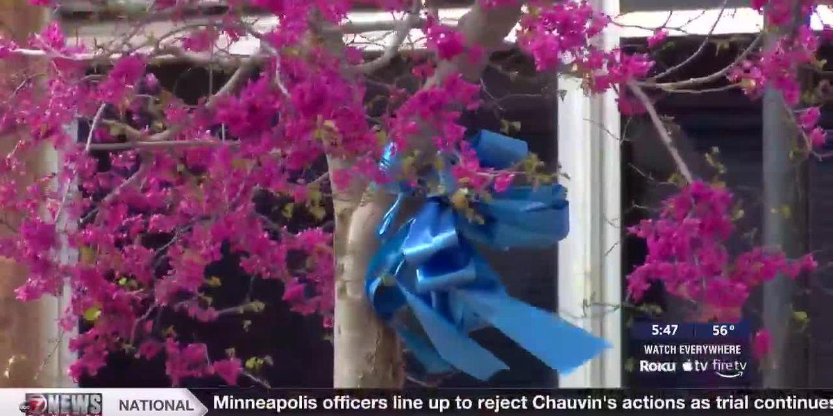 Altus paints the city blue for Child Abuse Prevention Month