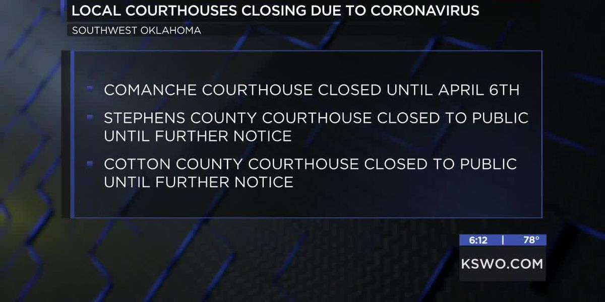 Local courthouses closing to general public