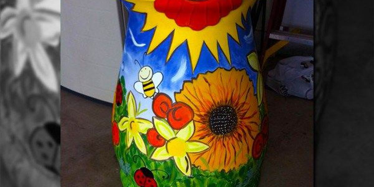 Woman asking for help in the search for her treasured rain barrel